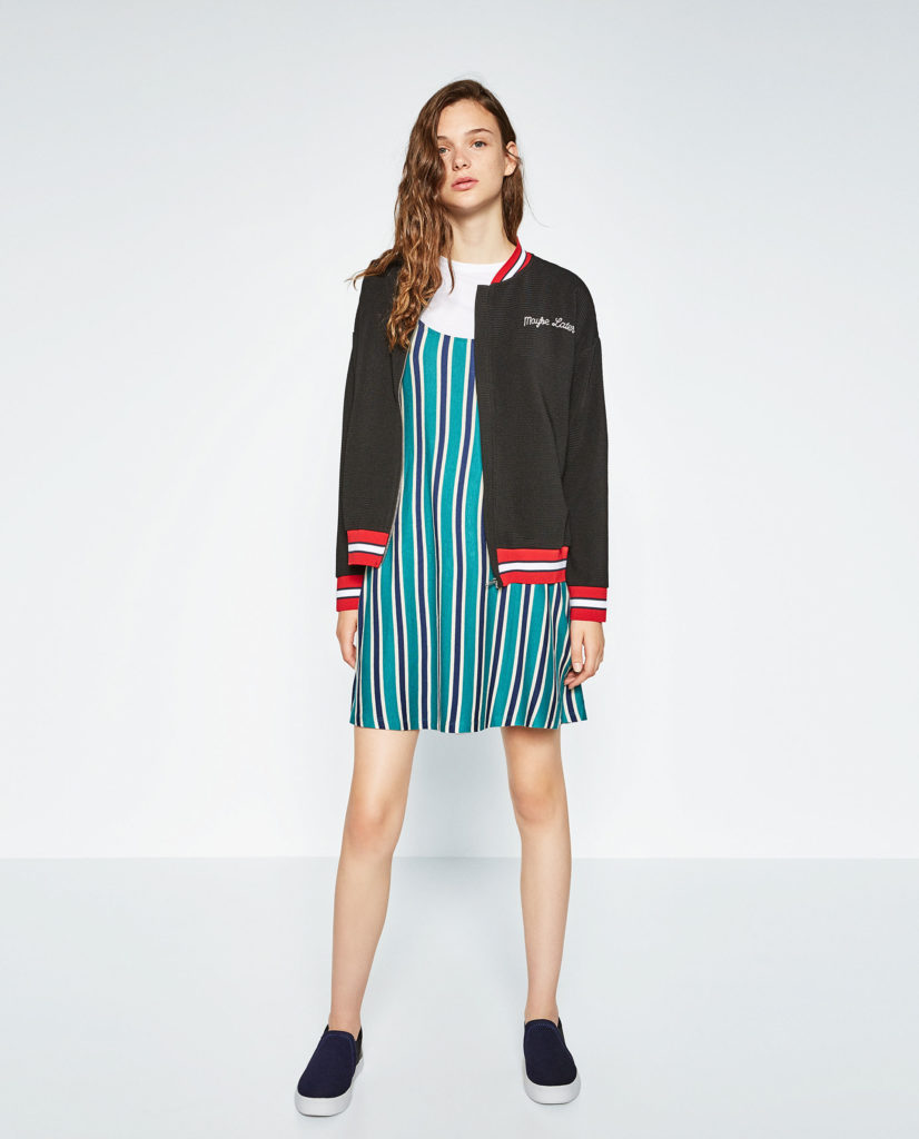 bomber jacket with dress_lyst